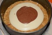 preparare cheesecake cu ciocolata