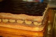 blat pufos cu nuca de cocos si crema de ciocolata