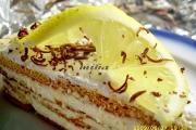 Felie tort cu crema de lamaie