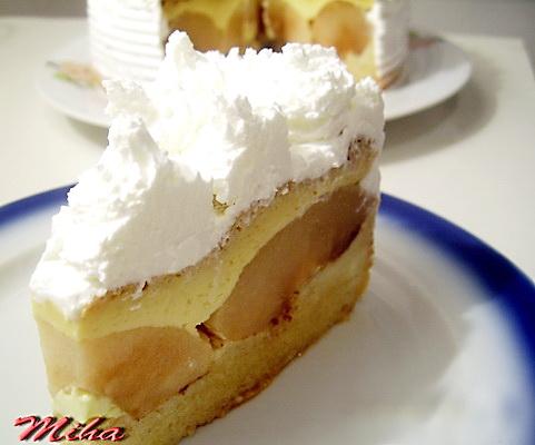 Felie tort cu crema de zahar ars
