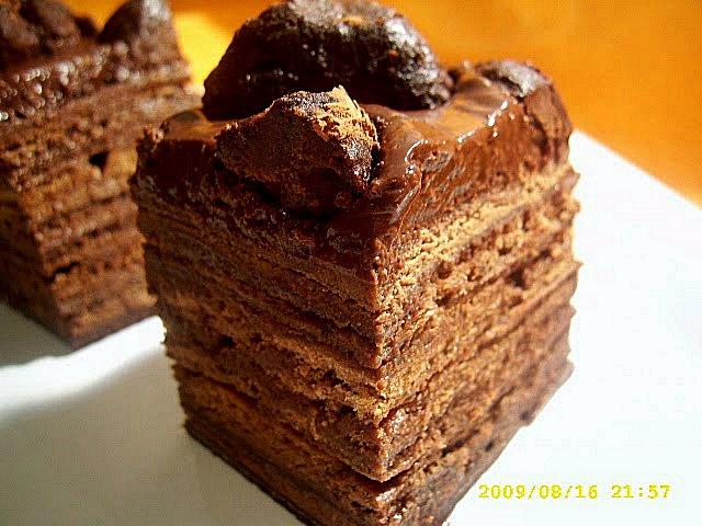 Tort de ciocolata cu foi si trufe