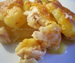 Cartofi gratinati cu piept de pui