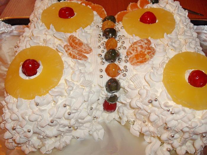 Tort diplomat cu fructe