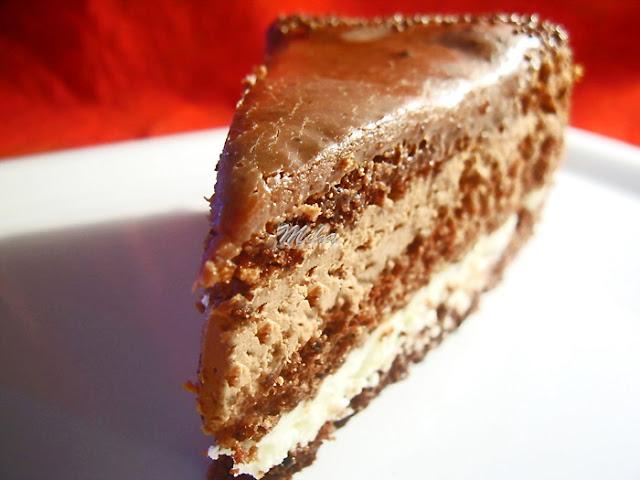 Tort cu ciocolata si crema de unt