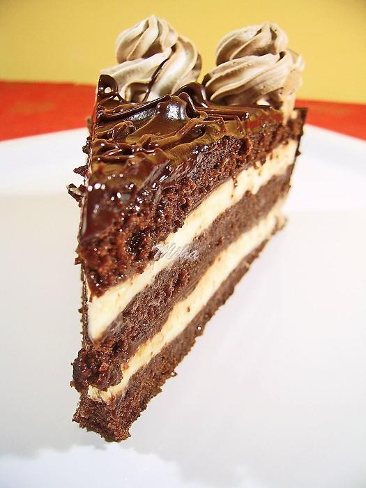 Tort cu ciocolata si crema de lapte