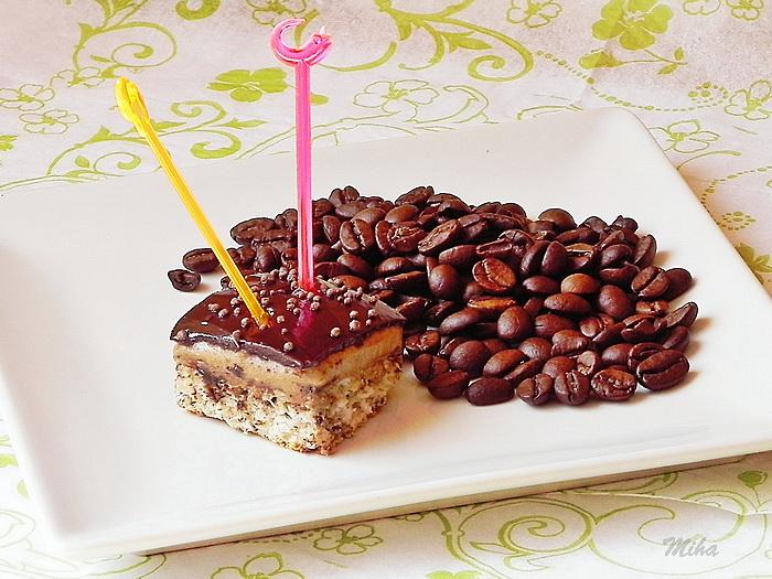Prajitura cu crema de cafea si ciocolata