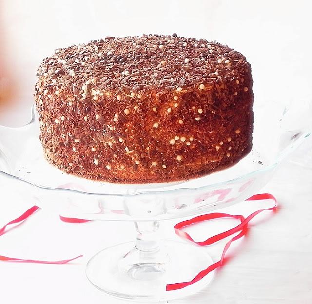 tort cu ciocolata si caramel