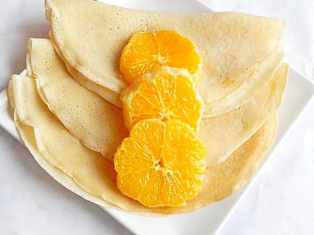 Clatite de post cu portocale