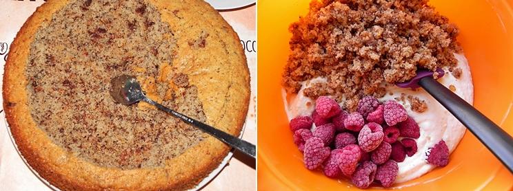 Preparare tort cu zmeura si ciocolata