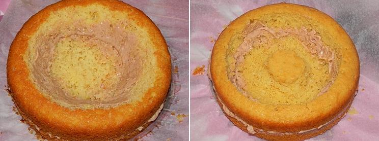 Tort cu crema de cafea – Heart Cake