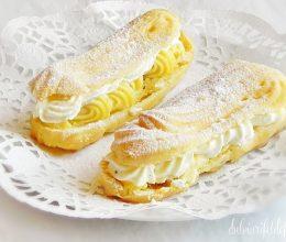 eclere cu crema de vanilie si frisca 3