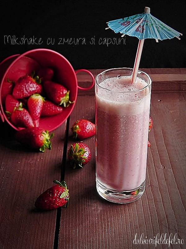 milkshake cu capsuni