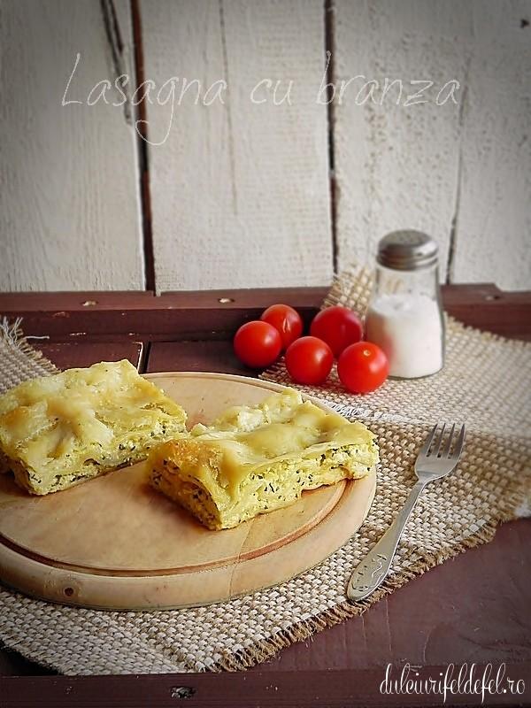 lasagna cu branza si spanac