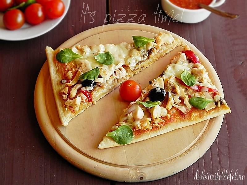 pizza cu blat subtire