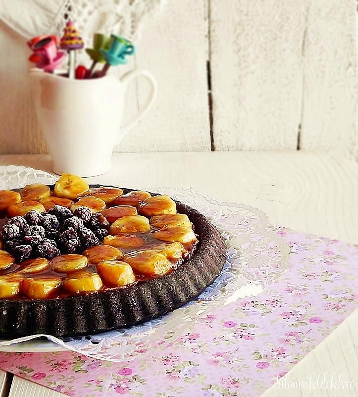 tarta cu banane caramelizate