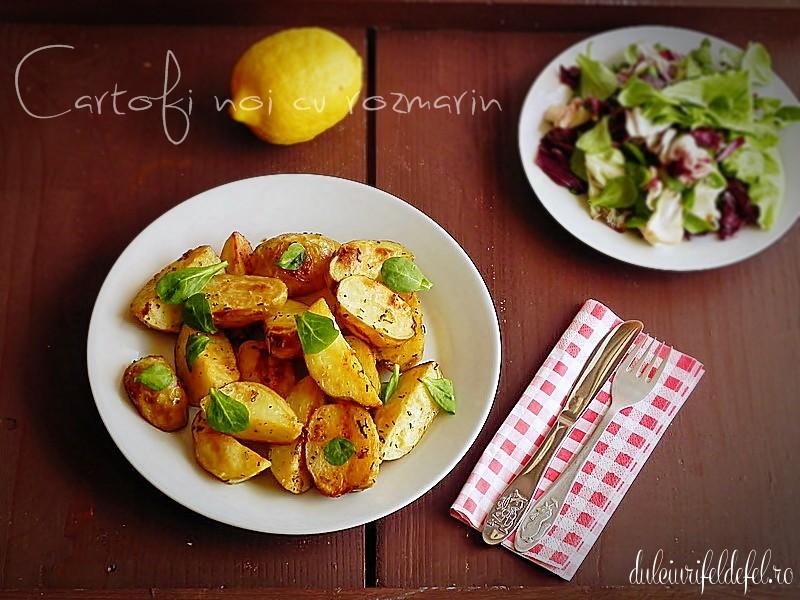 cartofi noi cu rozmarin