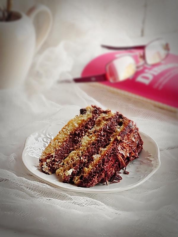 Felie de tort cu ciocolata