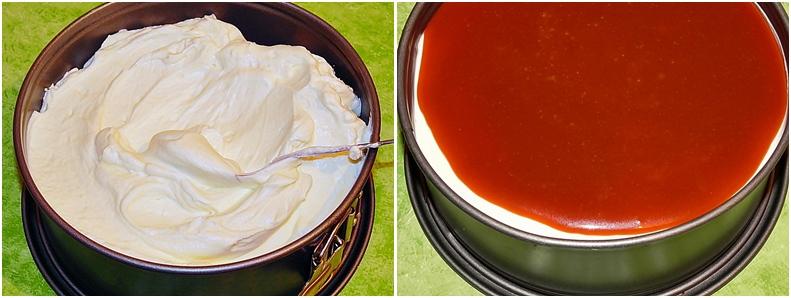 Prajitura cu crema de branza si caramel