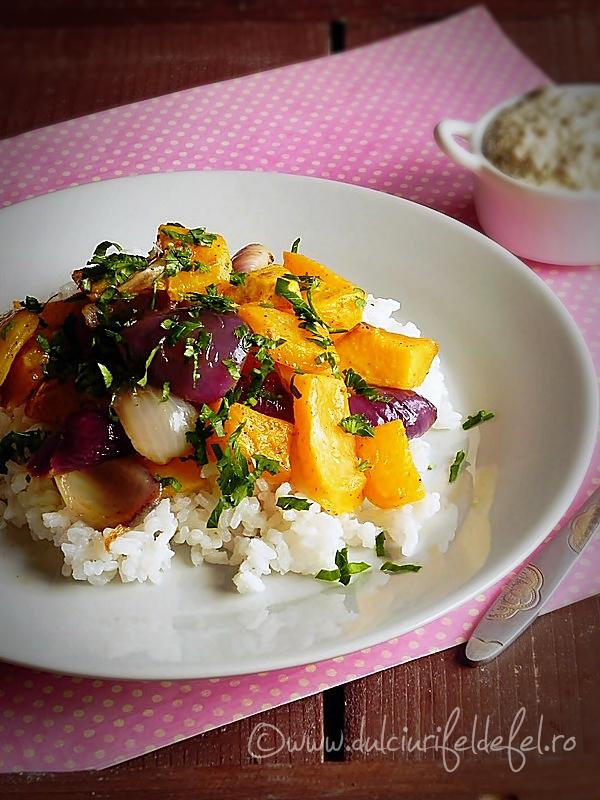 Salata de orez cu dovleac copt