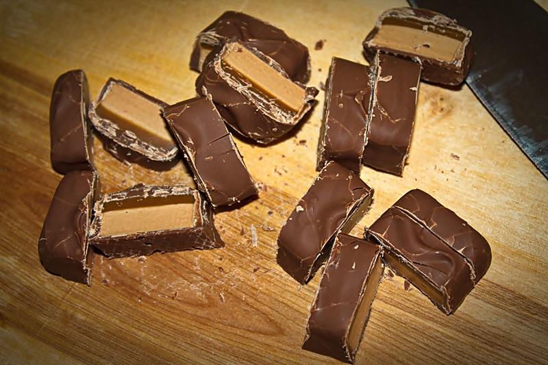 Ciocolata cu caramel pentru crema de tort