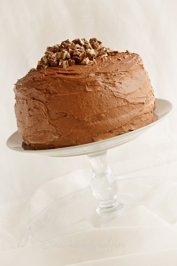 Tort fara gluten cu crema de branza si ciocolata