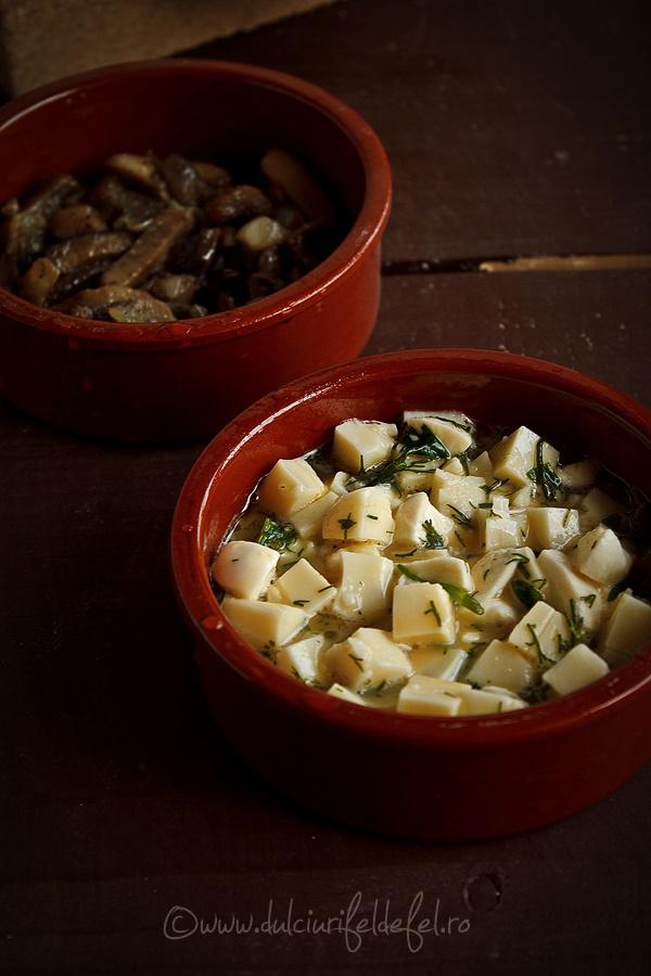 preparare omleta cu ciuperci la cuptor