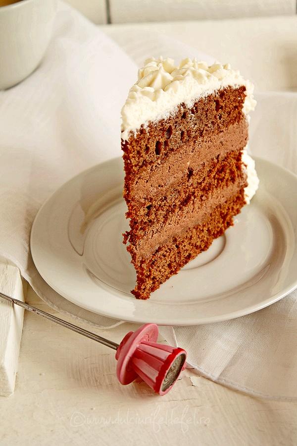 Tort de ciocolata si frisca cu mascarpone