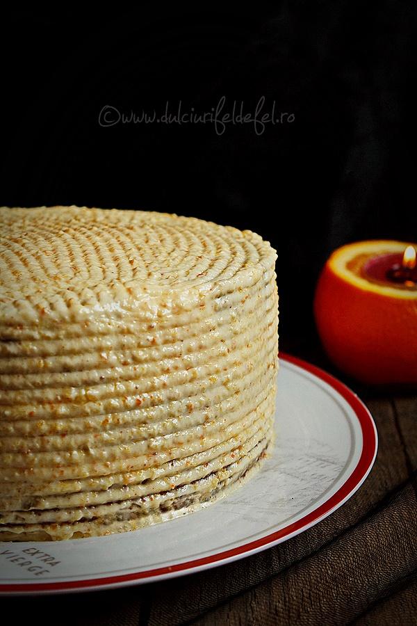 Tort simplu cu crema de portocale