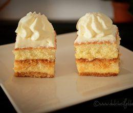 Prajitura cu crema de vanilie si caramel