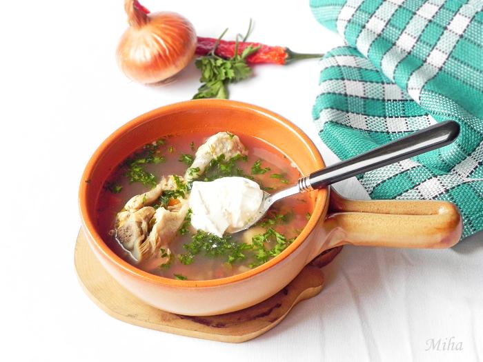 Ciorba de pui cu legume si verdeata