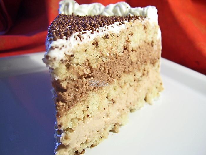 Tort cu 2 creme de ciocolata si frisca
