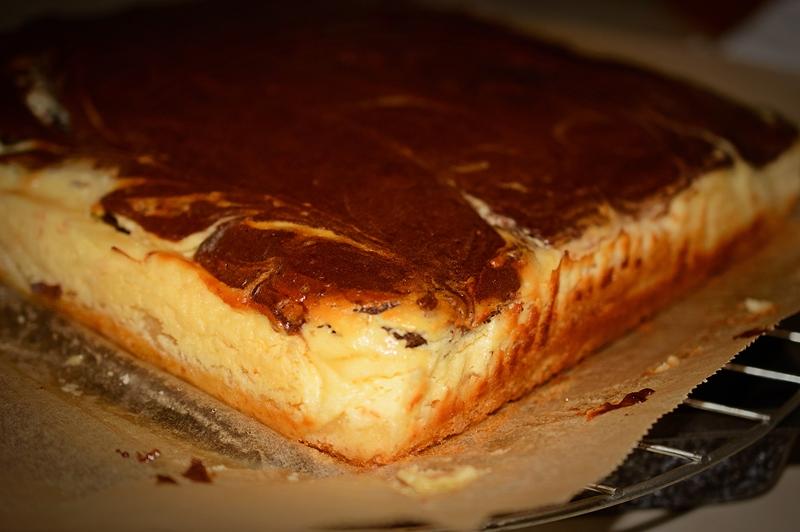 prajitura de casa cu branza si cacao