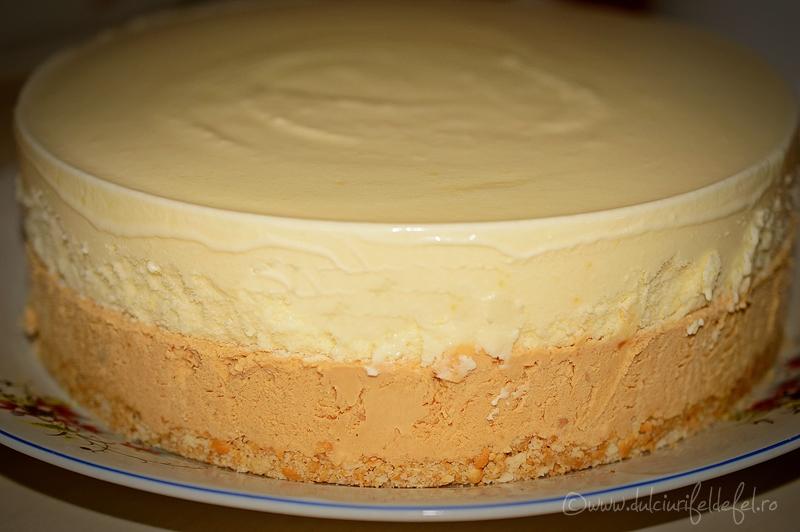 tort de inghetata de caramel si vanilie dulciuri fel de fel