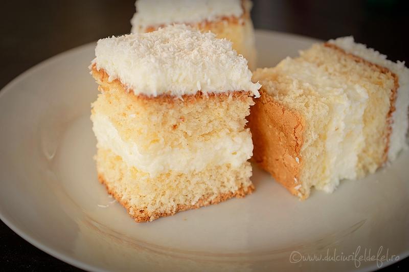 prajitura cu blat de cocos si crema de lamaie